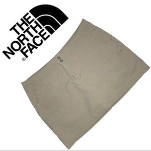 The North Face Khaki Skort Front Patch Pockets